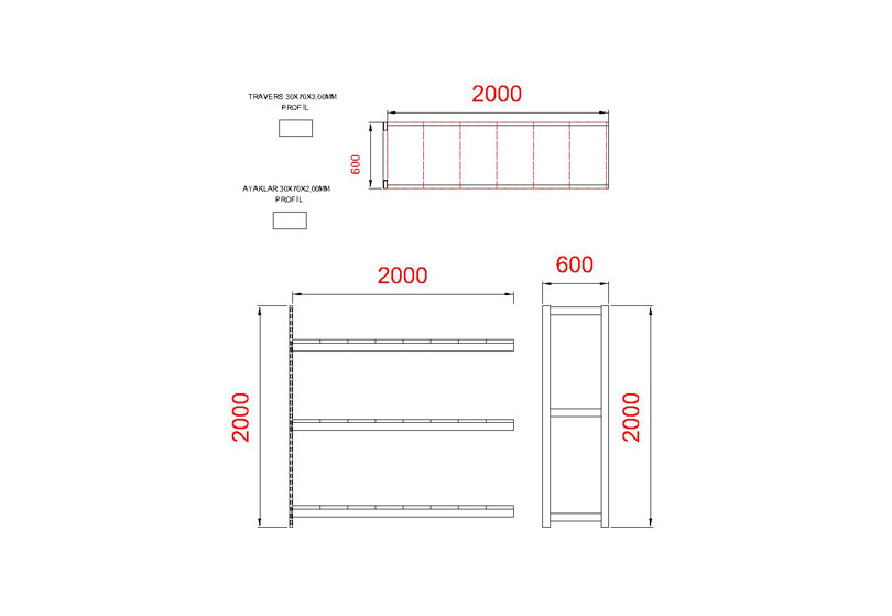 tunayofis-8003-B-200X60X200H-İLAVE-MODUL