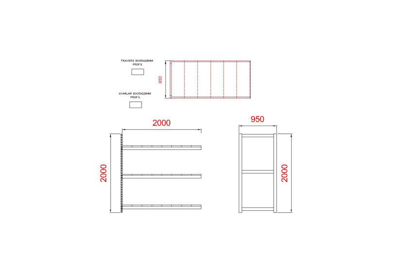 tunayofis-8003-1C-200x95x200-İLAVE-MODUL