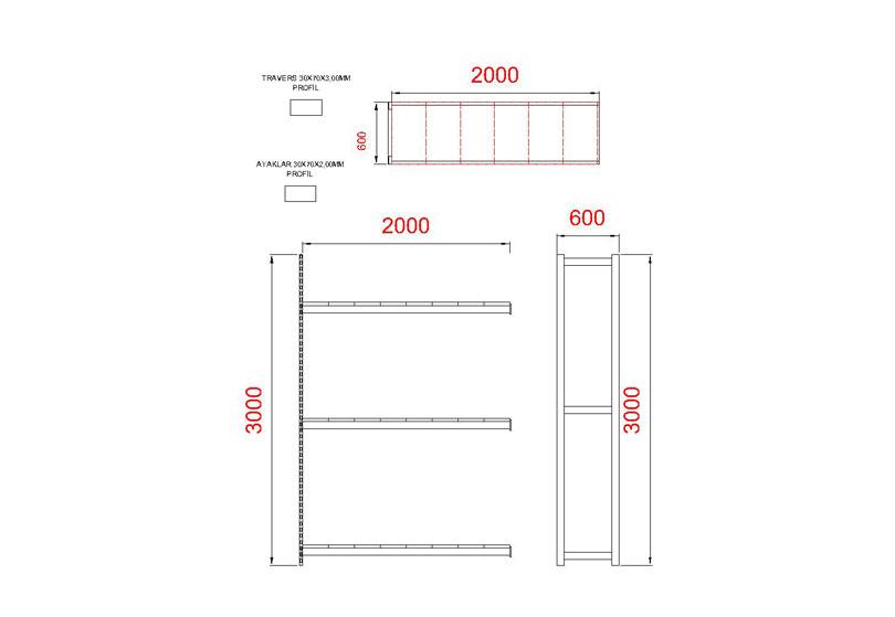 tunayofis-8003-1D-200X60X300H-İLAVE-MODUL